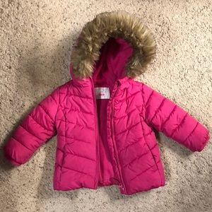 Pink Winter Coat with Fur